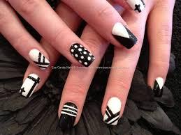 nail art design 2017 black and white black and white nail paint