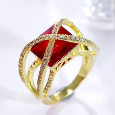 wedding ring big aliexpress buy 2017 new fashion big square wedding