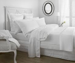 waffle piquet duvet cover set white from