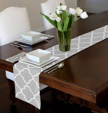 table runner grey white trellis table runner mat topper 12 x 90