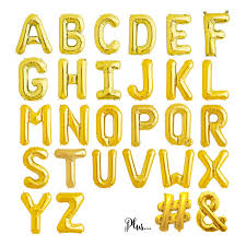 balloon letters gold letter balloons spell any name or phrase 16 inch foil