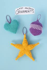 knit ornaments three ways