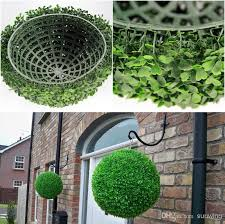 Topiary Trees Artificial Cheap - 28cm artificial grass ball topiary boxwood kissing ball wedding