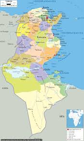 map of tunisia with cities tunisia major cities map