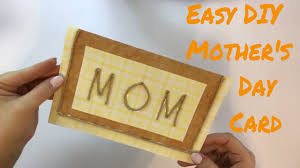 easy diy mother u0027s day card 7 days 7 cards day 2 youtube