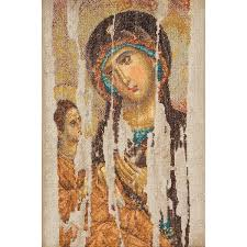 thea gouverneur counted cross stitch kit icon of god on