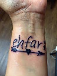 ehfar means everything happens for a reason the arrow to keep me