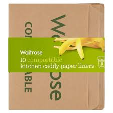 Waitrose  Compostable Kitchen Caddy Paper Liners  Per Pack - Waitrose kitchen table