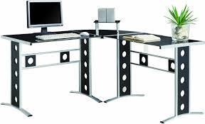 walnut corner computer desk office likable l shape corner desk complete made with beautiful