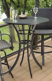 round bistro table outdoor maximize space on your deck with this round pub table and tall
