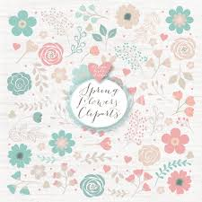 floral clipart shabby chic pencil and in color floral clipart