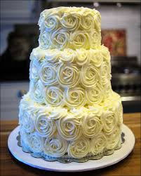 wedding cake roses tiered rosette wedding cake gray barn baking