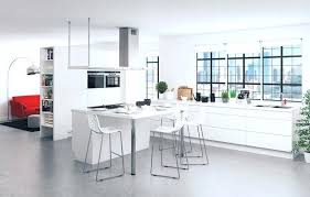 ilot cuisine avec table ilot table cuisine with en bois avec coulissante ilot cuisine avec