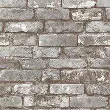 chelsea charcoal brick wallpaper contemporary wallpaper by