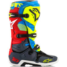 alpinestar tech 3 motocross boots new alpinestars 2018 mx tech 10 le union fluro yellow blue red