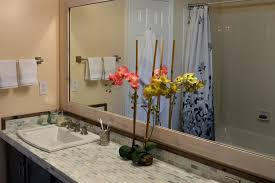 Wood Mirrors Bathroom Add A Wood Frame Around A Plain Mirror Diy