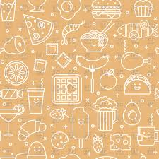 seamless pattern food seamless pattern with fast food icons royalty free vector clip art