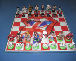 Ceramic Chess Set Stone Chess Set Etsy