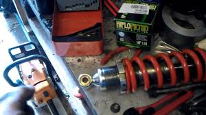 motorcycle rear shock absorber removal u0026 refit replace youtube