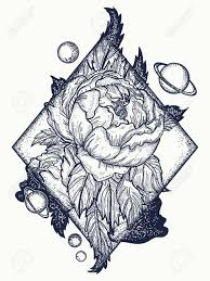 design flower rose drawing esoteric rose tattoo art and t shirt design symbol of love
