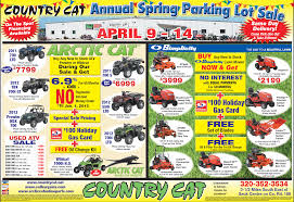 country cat spring atv parking lot sale arcticchat com arctic