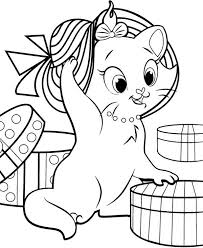 aristocats marie beautiful hat colouring happy colouring