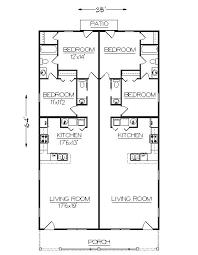 duplex floor plans for narrow lots duplex j2030d plansource duplex plans