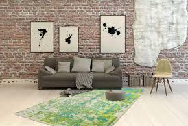 Wohnzimmer Esszimmer Modern Design Teppich Teppiche Flachgewebe Grün Blau Wohnzimmer Esszimmer