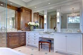 Bathroom Vanity With Seating Area by Vanity Seating Area Bathroom Transitional With Two Sinks Modern