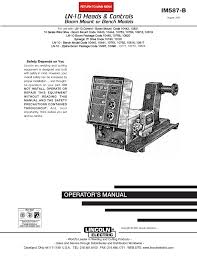 lincoln electric im587 ln 10 wire feeder user manual 54 pages