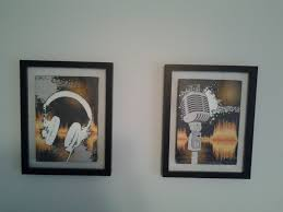 music themed wall art i designed and mounted in shadow boxes the