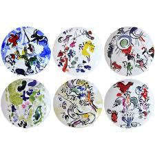 assiette de porcelaine marc chagall pour bernardaud éditions limitées vase assiette