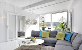 stunning living room idea with l shaped grey fabric cofa living