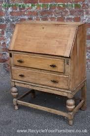 pretty shabby chic antique vintage bureau desk painted farrow