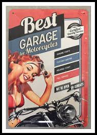 decoration vintage americaine plaque metal best garage motorcycles americaine pinup pin up usa