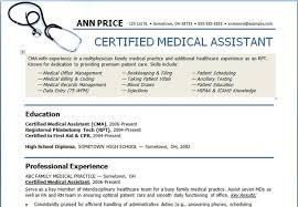 gallery of medical assistant resume templates resume examples