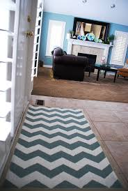 Chevron Kitchen Rug Painted Chevron Rug Reveal Tutorial