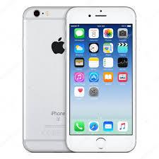 Fabuloso Vista frontal de Apple iphone 6s com ios 9 na tela de prata  @EL45