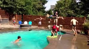 crazy 11 man pool dunk youtube