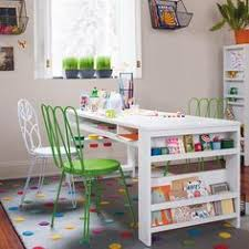 Kids Activity Table With Storage Kid Craft Space Love The Craft Table With Storage Below I Think