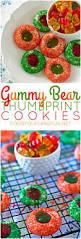 gummy bear thumbprint cookies u2022 food folks and fun