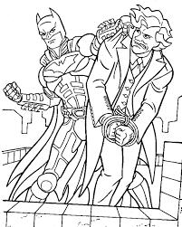 batman manages capture villains coloring pages batman cartoon