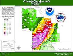 Rainfall Map Usa by Heavy Rain Wednesday May 6th Thursday May 7th
