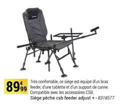 decathlon siege decathlon promotion siège pêche csb feeder adjust caperlan