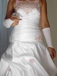 rosa brautkleid brautkeid nicolle zweifarbiges weiß rosa hochzeitskleid