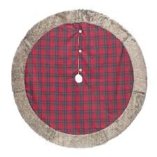 plaid tree skirt shop living 56 in plaid christmas tree skirt at lowes