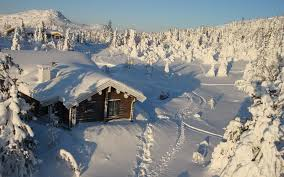 Winter House Wallpaper House Wood Solitude Snowdrifts Snow Winter Cover