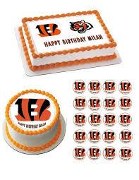 edible prints cincinnati bengals edible birthday cake and cupcake topper