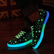 led light up shoes for adults 2015 lovers luminous shoes fashion star pattern low top light up