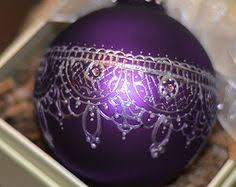 9 purple decorated baubles decor and more